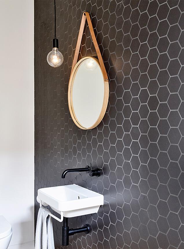 Baño moderno en casa reformada