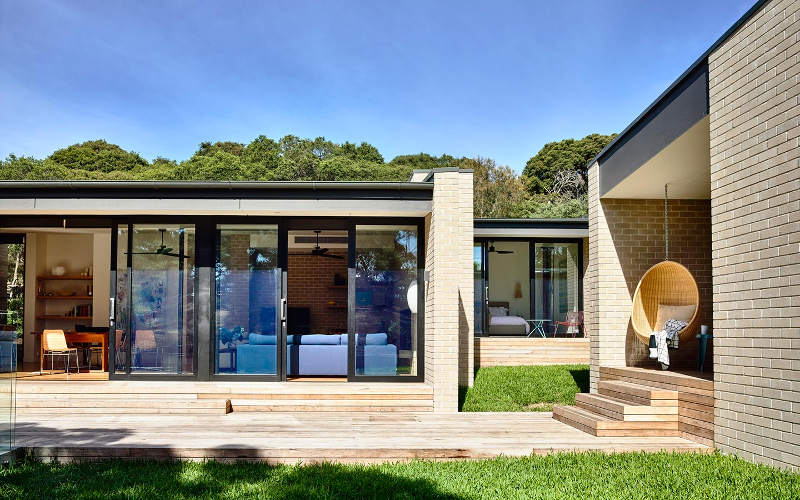 a contemporary blonde brick holiday home desire to On holiday home designs australia