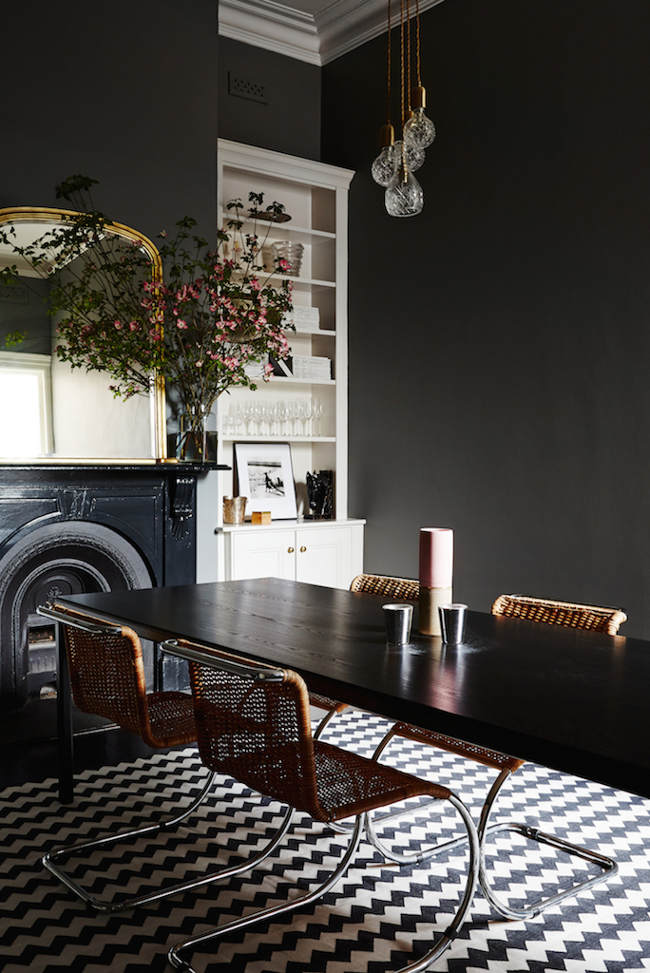 Dining Room Wall Colors with Dark Furniture