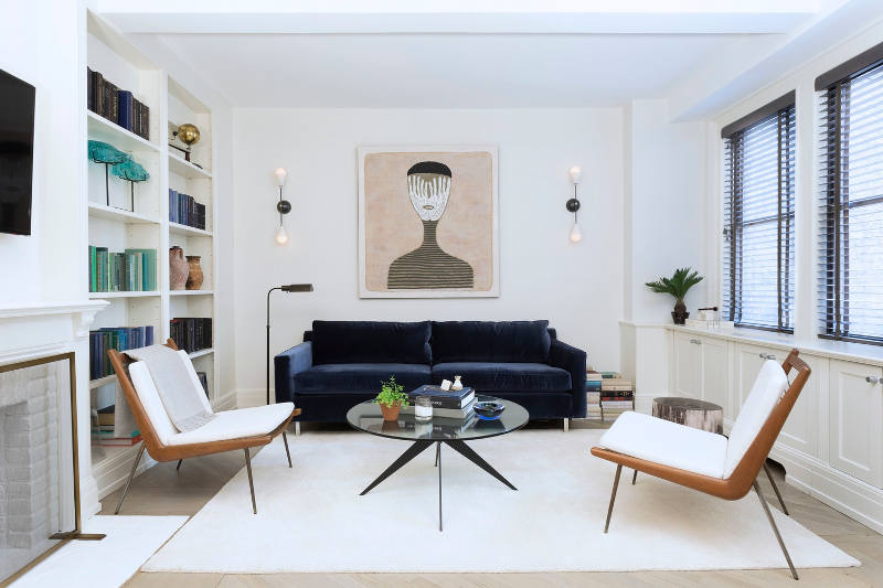 Minimal and masculine for Avenue u living room