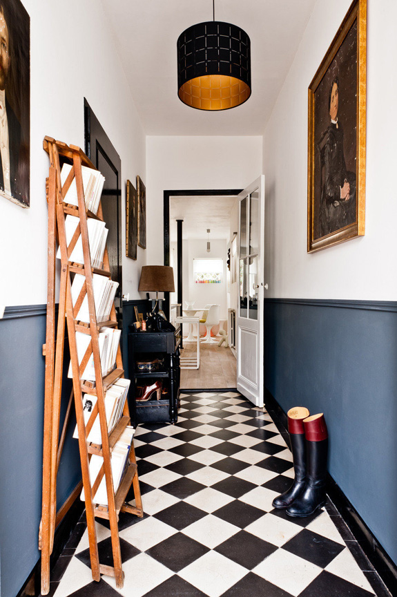 Foyer Flooring Inspiration Black Amp White Checkered Tile