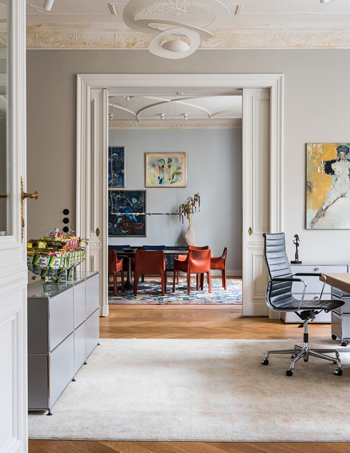 An extensively renovated apartment in Berlin