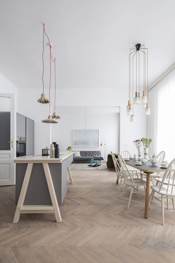 A Renovated Apartment In Grey And White
