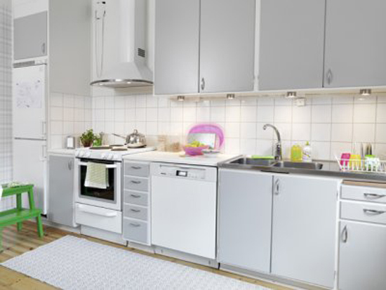 Reader Request White Kitchen Appliances - Grey kitchen cabinets with white appliances
