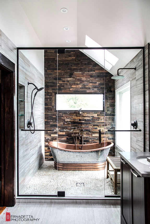 A Rustic And Modern Bathroom. Posted On Mon, 13 Jun 2016 By KiM