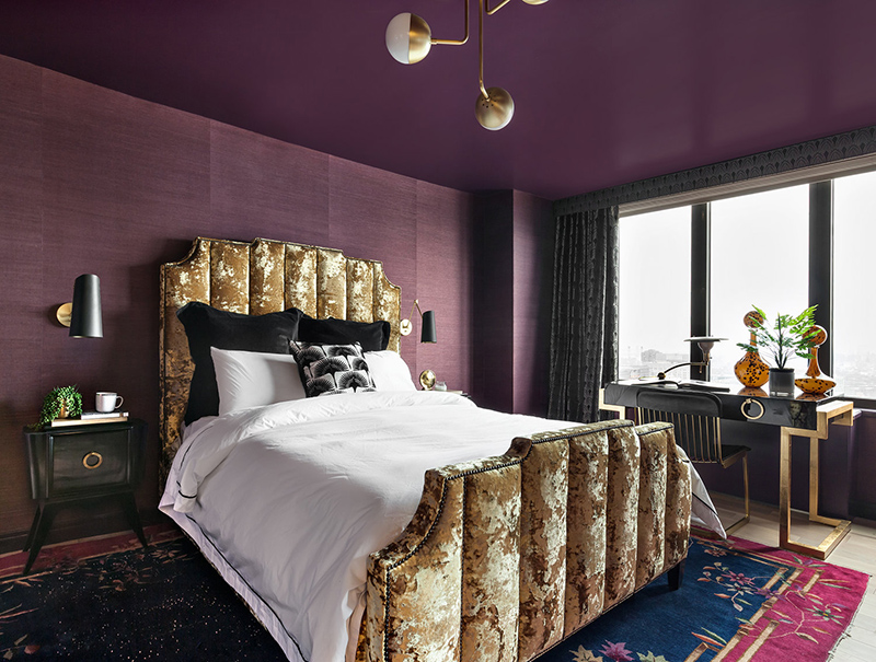 I am completely in love with the bedroom helloooooo crushed velvet bed gold accents throughout add sparkle and im impressed that shes combined 2