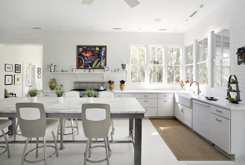 Love this kitchen - Kitchen designs without upper cabinets ...