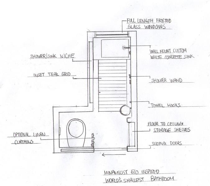 L Shaped Bathroom Floor Plans: Tiny Bathroom Design And A Contest