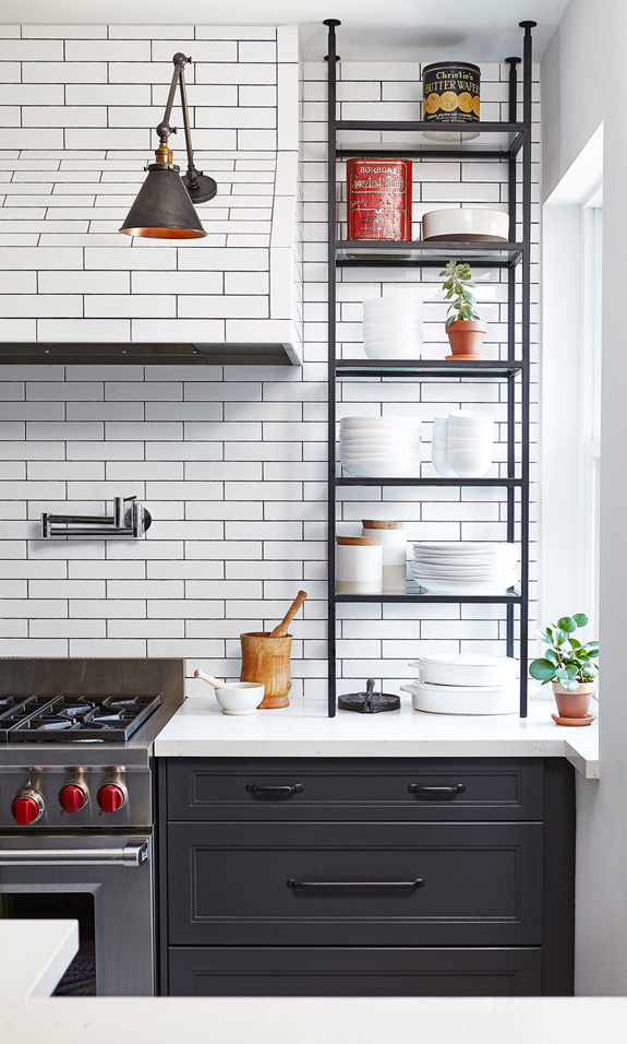 a french bistro style kitchen