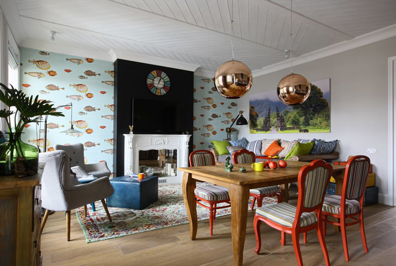 & An eclectic apartment in Moscow