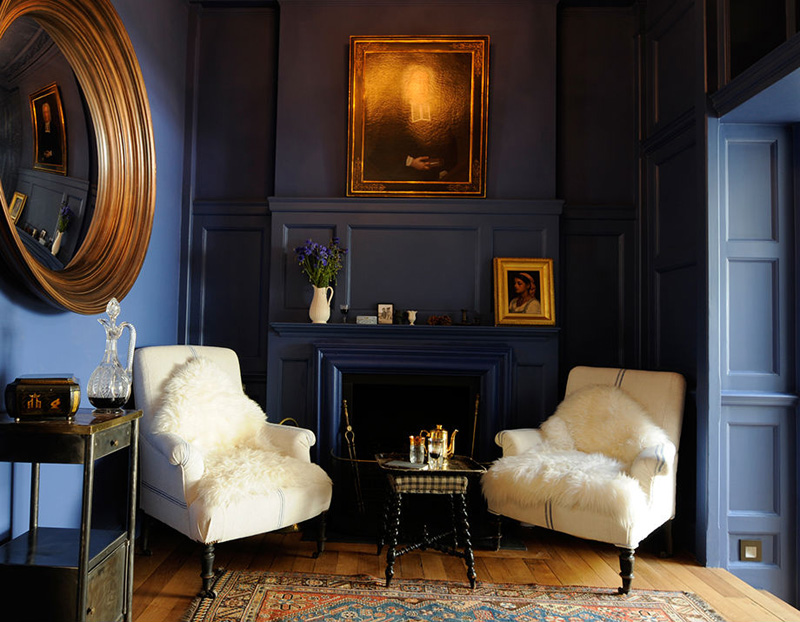 Navy And Gold Wonderful Blue Bedroom