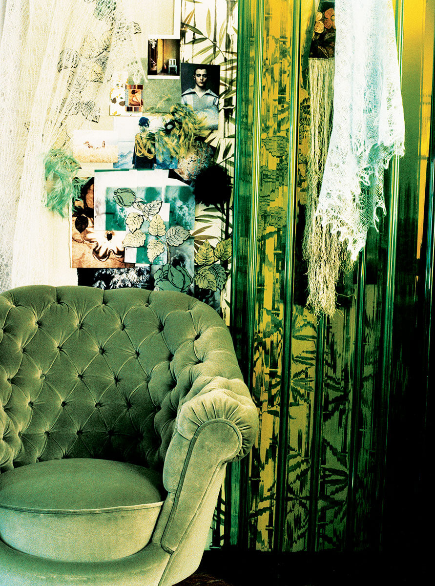 A grouping of those green tufted pieces would make many people or at least me stand back in awe sounded like a pretty simple request
