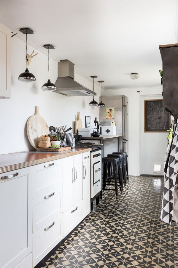 Patterned Tiles On Kitchen Floors