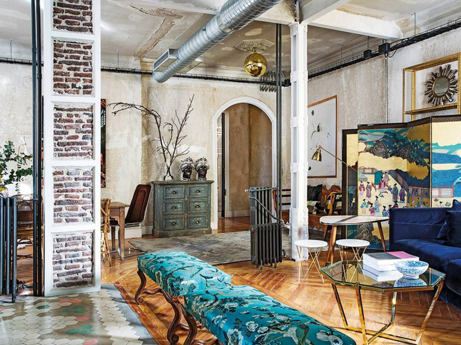 Nothing Beats A Backdrop Of An Industrial Loft Add In Some Vibrant Colours Patterns Textures And Vintage Furnishings You Have Eclectic