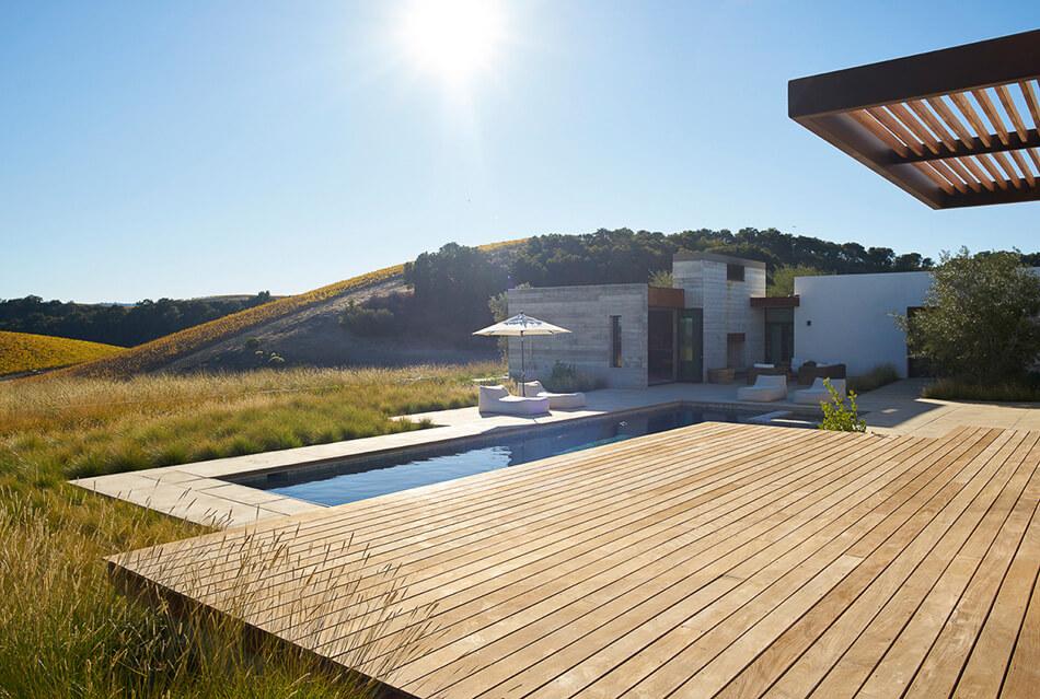 The Modern Landscape Of A California Vineyard