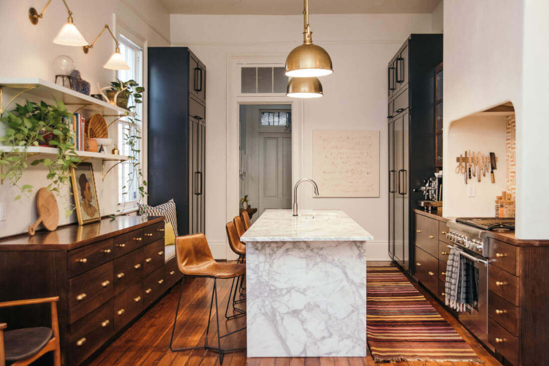 A Modern Kitchen With A Vintage Vibe