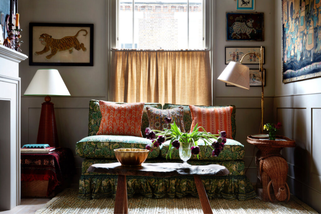 A bright and colourful cottage style London home