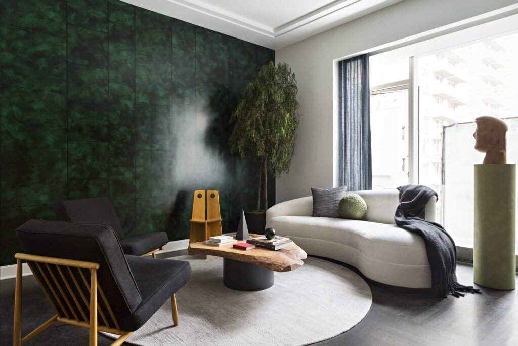 A colourful apartment in a sea of beige