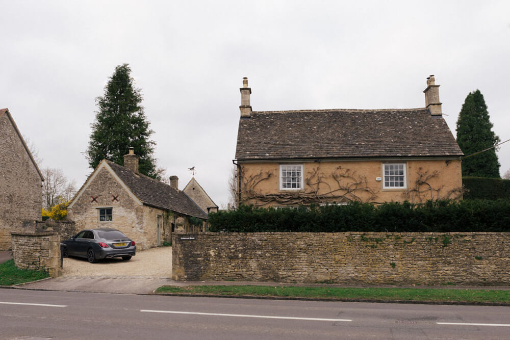 A renovated 1700 stone home in England